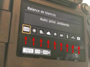 Donde Encontrar El Balance De Blancos Canon